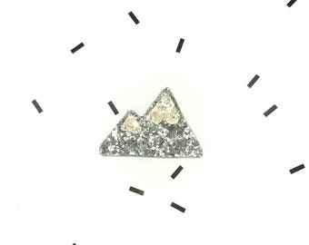 Hand Made sequin mountain brooch