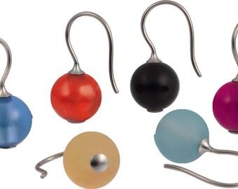 Kugelohr pendant, earrings with stone