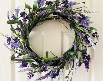 Summer wreath for front door,Spring wreath for front door, Flower berry wreath, Flower wreath, Front door wreath, Everyday wreath