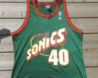 Seattle Supersonics Champion Vintage Basketball Jersey #40 Shawe Kemp Size 48 XL