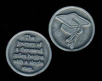 Graduation Cap Pocket Token, Graduation Coin, Graduation Hat, Gift for Graduate, Keepsake, Graduation Gift, Gift for Her, Gift For Him