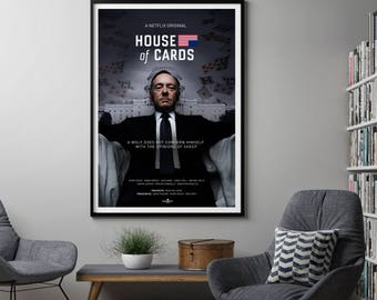 House of Cards TV Poster Art Print, TV Poster, Wall Art, Kevin Spacey Poster