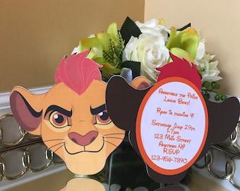 Lion Guard Birthday Invitations
