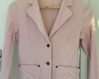 Sunny Girl Vintage Pink Corduroy Denim Jacket size 8 AUS