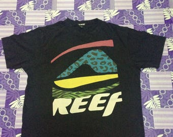 BIG LOGO REEF skAteboard tshirt