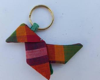 Creole fabric origami Keyring