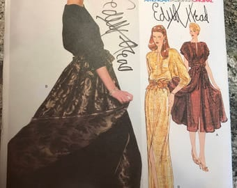 Vogue American Designer Pattern - Edith Head - 2221 - size 10 - signed by designer!