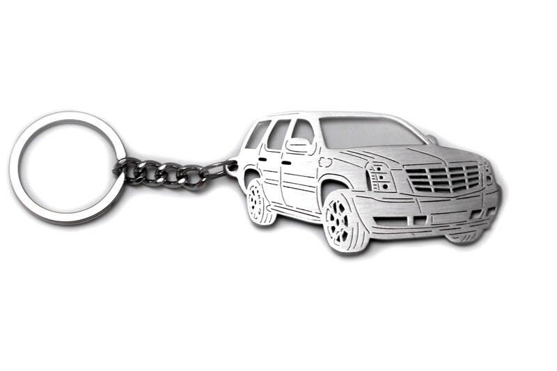 Keychain Fit Cadillac Escalade Iii Stainless Steel Key Chain