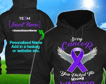 Personalized Esophageal Stomach Cancer Awareness Hoodie Periwinkle Ribbon Warrior Men Women Youth Custom Pullover Support Gift Winter Cloth