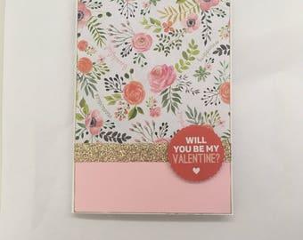 Handmade Card - Be my Valentine? (G12)