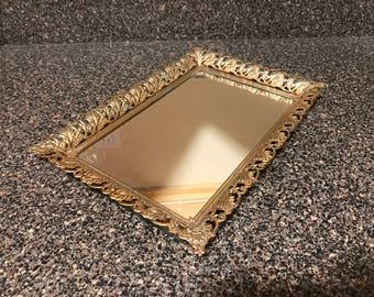 Vintage Vanity Mirror/Tray