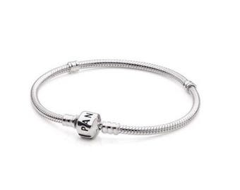 Authentic Pandora Sterling Silver Bracelet, Barrel Clasp 7.1