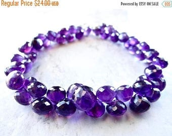 57% Celebration Sale-- Amethyst onions faceted briolette onions  8-10mm. 4 inches long