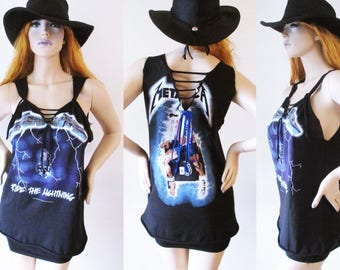 Metallica Deep V cut up tank Top S-XL band tee