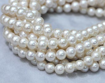 8-9mm White pearl strings, round pearl,pearl necklace,pearl bracelets,jewelry.
