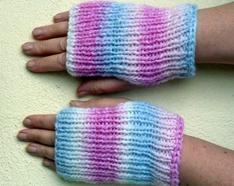"Adult mittens ""Marshmallow""."