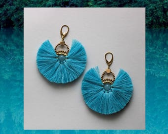 Bilbao Earrings - turquoise blue -topas