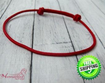 Red Leather Bracelet Kabbalah Bracelet Buddhist bracelet Red amulet Mens Yoga bracelet String Unisex Friendship bracelet Good Luck bracelet