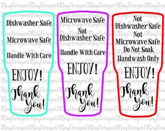 Care Card Bundle Care Instruction Cards Decal And HTV - Vinyl cup care instructions