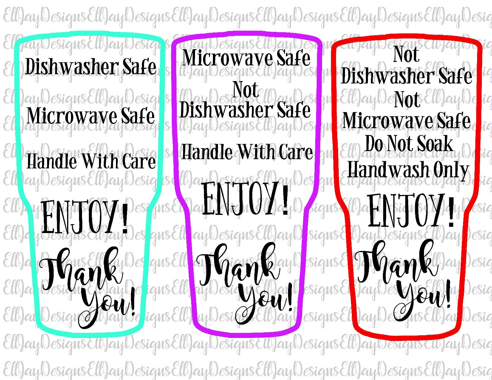 Care Card Bundle HTV Wash Instructions Decal Application - Custom vinyl decal application instructions pdfcare and instructions es signs