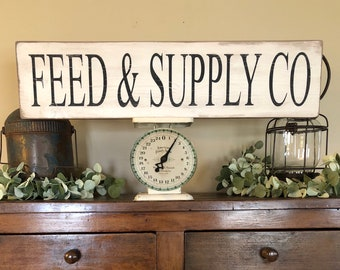 Feed & Supply Co sign, Farmhouse sign,