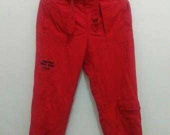 Fila ski pants mens small red ski wear sportwear
