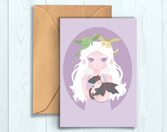 "Daenerys ""Mother of Dragons"" Greetings Card"