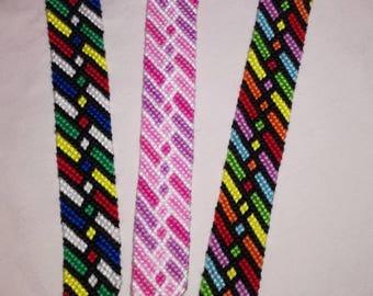 Colorful braided bracelet, Knotted bracelet, String bracelet, Bracelet bresilien, Friendship bracelet, Wrist band, Handwoven bracelet, Boho