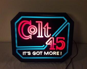 1980s Colt 45 Light Up Beer Sign