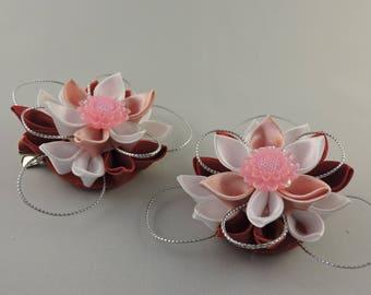 Flower hair clip. Set of 2 hair clips. Girls hair clips. Free shipping
