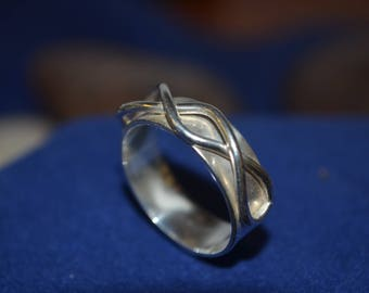 Sterling Silver Ring with a Twist