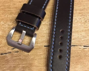 I sell Handmade Leather Strap Watch Strap 22 mm