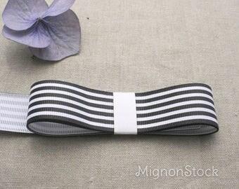 Rep - synthetic, black, white ribbons - Ribbon