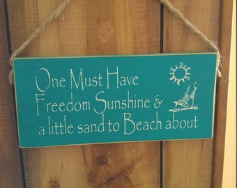 Beach About Sign