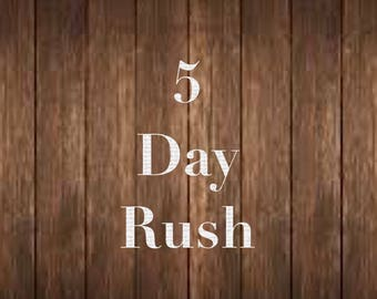5 Day Rush Production Add-On