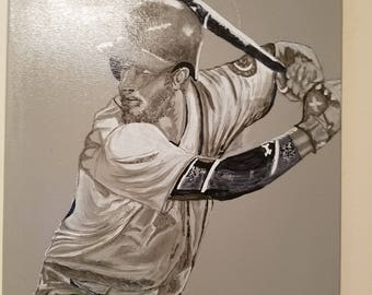 Batter up- canvas painting