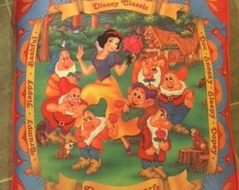 Vintage Disney Snow White and the seven dwarfs pillow