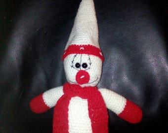Snowman 30cm handmade crochet