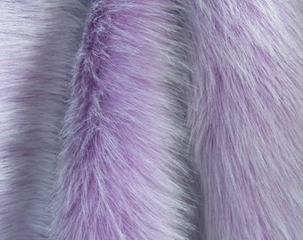 "Luxury Faux Fur Fabric 19.7"", Purple Long Pile Faux Fur Craft, Newborn Photo Prop"