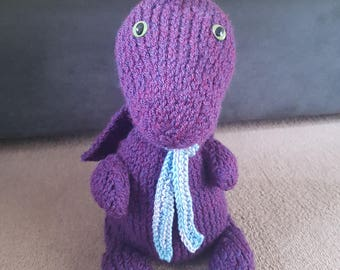 Purple Dragon Plushie (knitted)