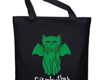 Cathulhu Fun Jute Bag