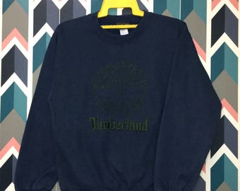 Free Shipping 90s TIMBERLAND embroidery crewneck