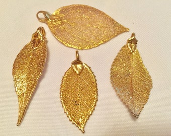 24K Gold Filled Aspen Leaf