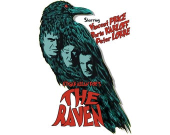 T-SHIRT: The Raven / Movie Poster - Classic T-Shirt & Ladies Fitted Tee - (LazyCarrot)
