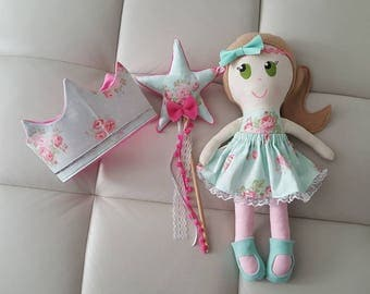 Fabric Crown fairy wand crown and wand set