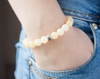 Canary Yellow Bracelet Stacking Bracelet Jade Bracelet Dream Bracelet Tuscan Sun Sister Bracelet Butterscotch Blonde Bracelet Honey Bracelet