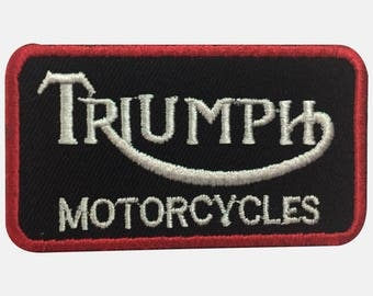 Triumph Motorcycles Patch/Badge Iron On Or Sew On (7.6x4.3cm)