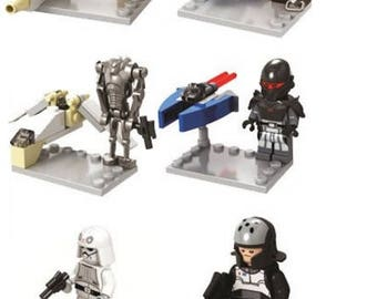 Batch of 6 Lego Star Wars Customized figures