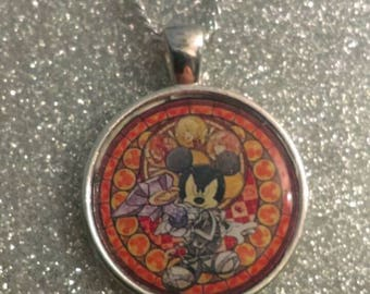 Kingdom Hearts Themed Style Necklace Pendant Keyring Key Ring Keyblade Master Mickey Mouse King