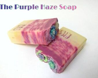 Handmade soap, handmade soap, handcrafted soap, handmade Soap, Purple Haze, Eklektika sapo, homemade, natural, vegan,